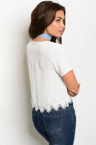 Women's White Crop Top - FashionIsUs.com