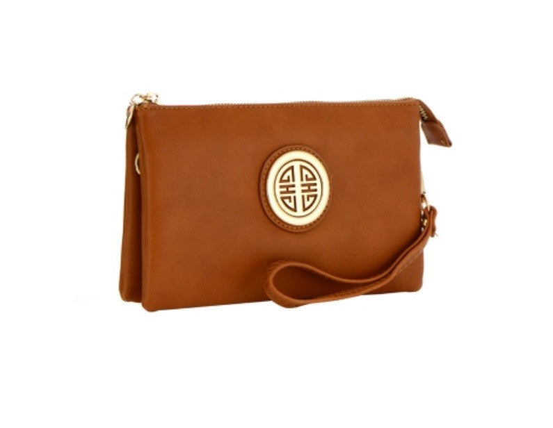 Women's Clutch Leather Tan Purse FashionIsUs.com