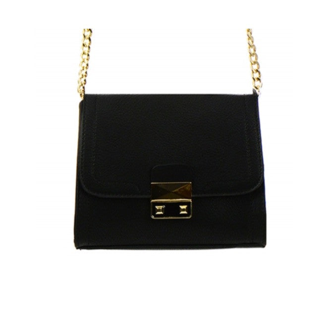 Women's Handbag Black Leather Accents FashionIsUs.com