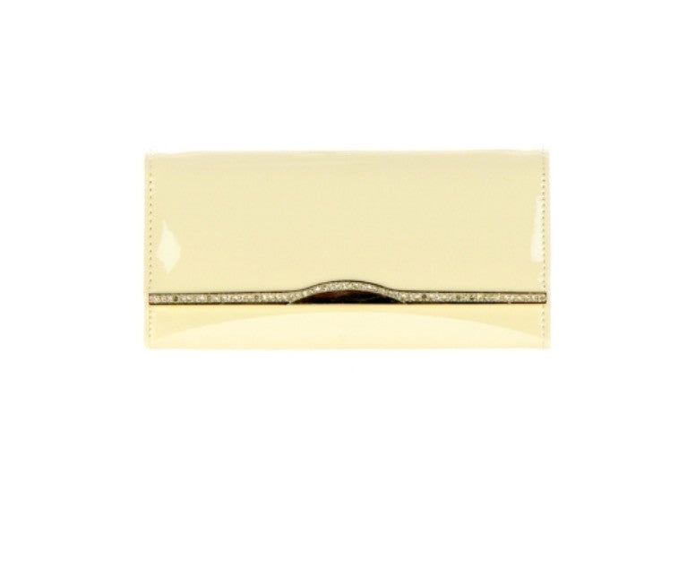 Women's Wallet Clutch Gold Accented Flap Wallet FashionIsUs.com