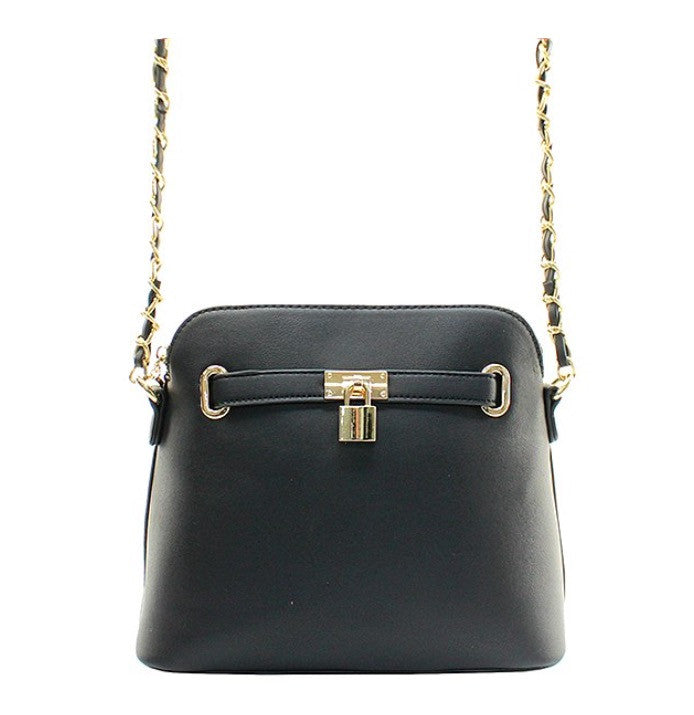 Women's Handbag Black Padlock Messenger Shoulder Handbag FashionIsUs.com