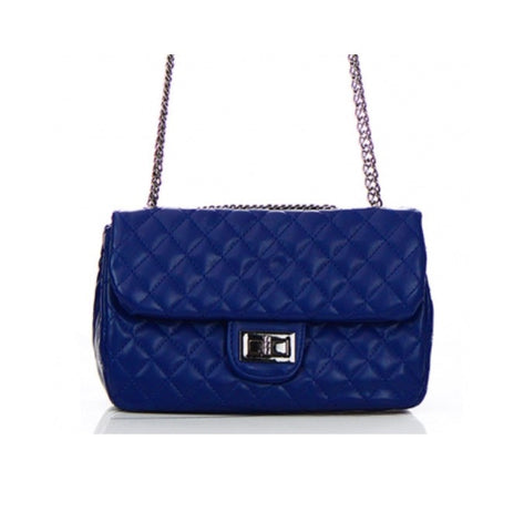 Women's Handbag Leather Diamand Stitch FashionIsUs.com