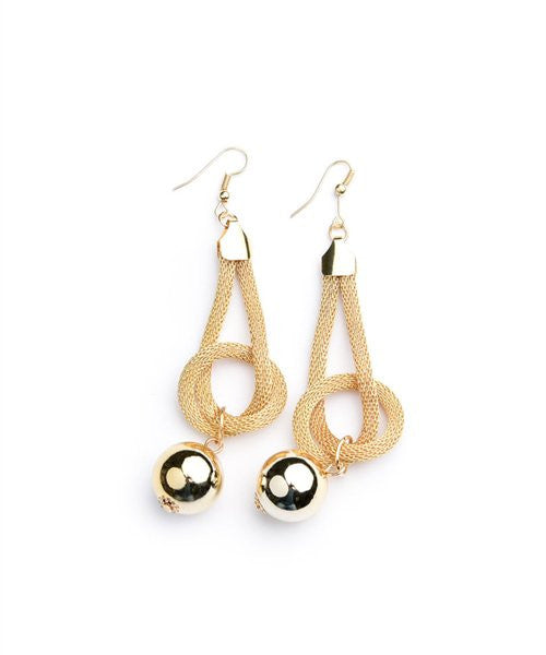 Women's Earring Drop With Dangle Gold Pearl Earrings FashionIsUs.com