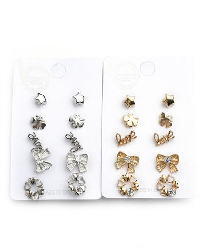 Women's Stud Earrings Stone Multiple Shape Design Earrings FashionIsUs.com