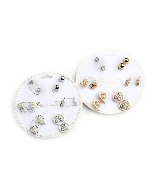 Women's Earrings Stud Polishes Set FashionIsUs.com