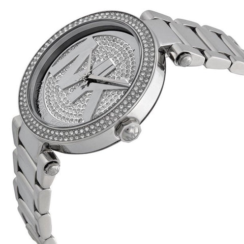 Michael Kors Women's Parker Stainless Steel Logo Glitz Watch, MK5925