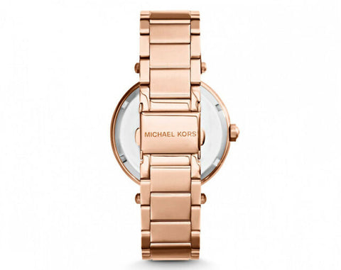 Michael Kors Women's Parker Rose Gold-Tone Logo Watch MK5865