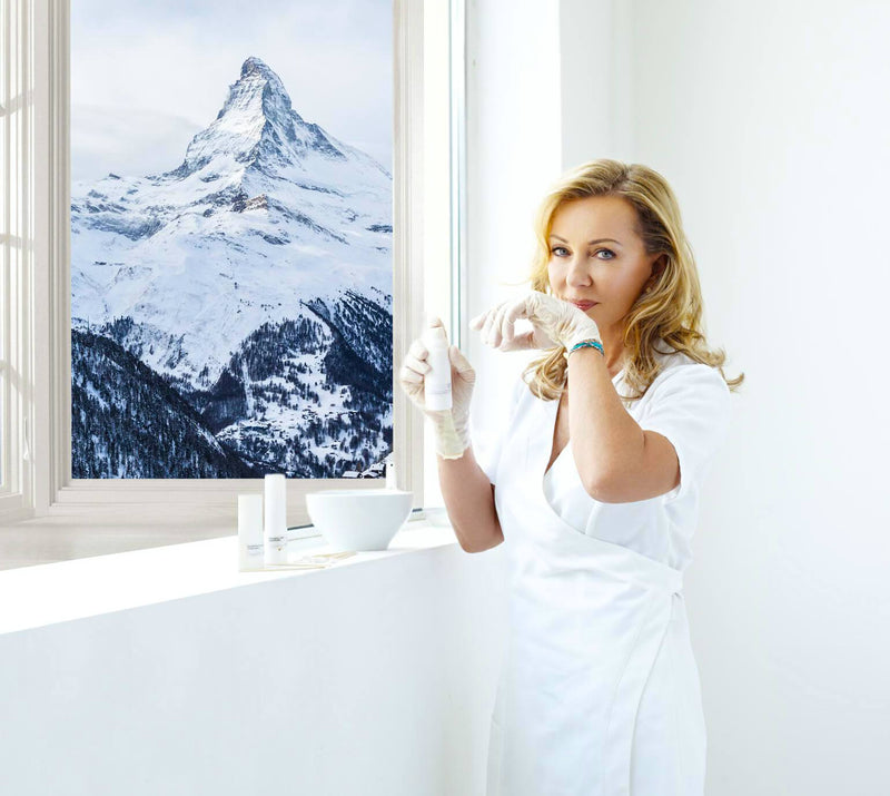 Jacqueline Piotaz Switzerland with the Matterhorn