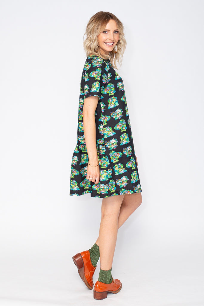 Summer Confetti ruffle dress