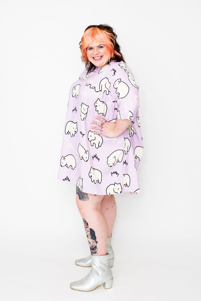 PRE-ORDER Wombie boxy t dress