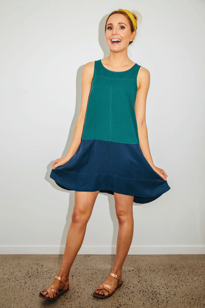 Ivy two-tone dress