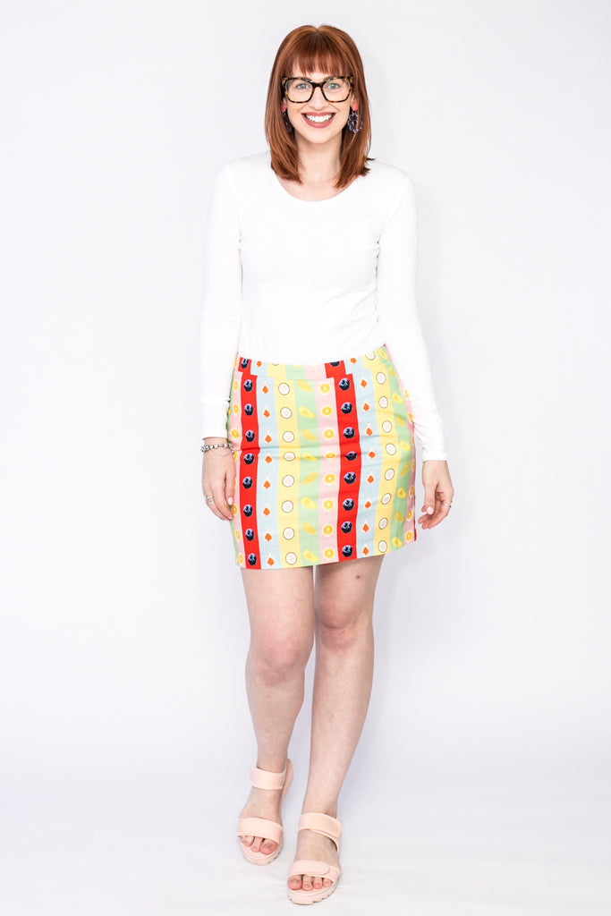 Rainbow Fruit mini skirt