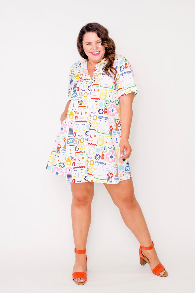 Flower Lovers shirt dress