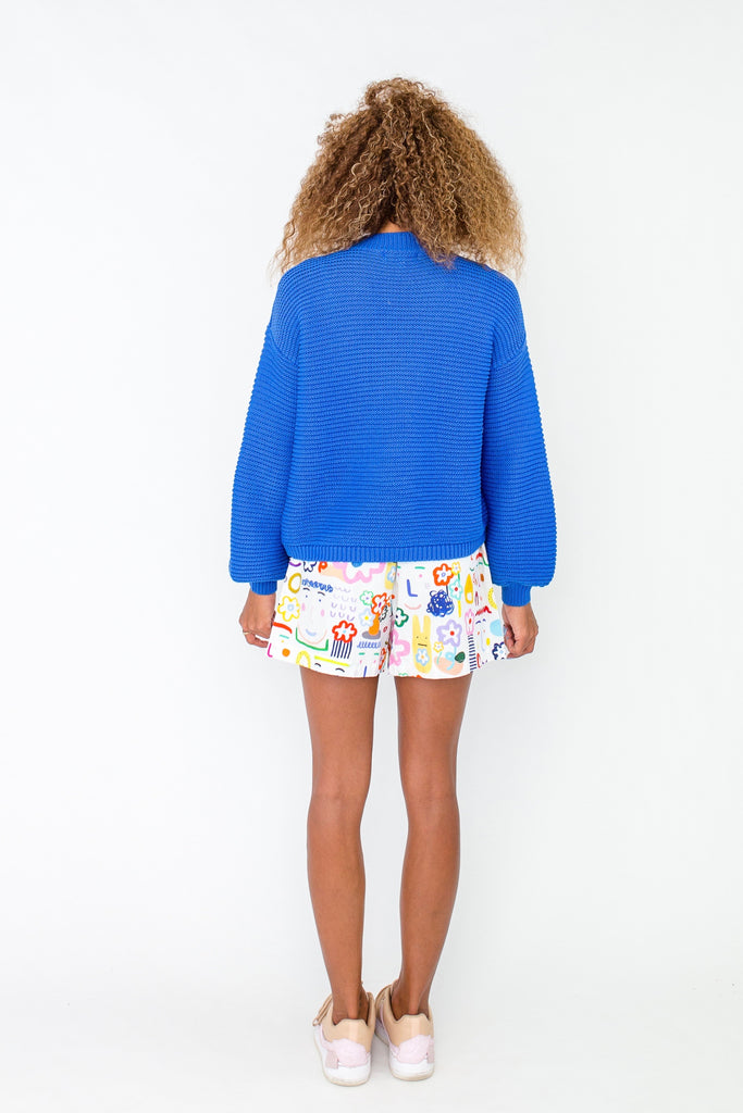 Bauhinia jumper in blue