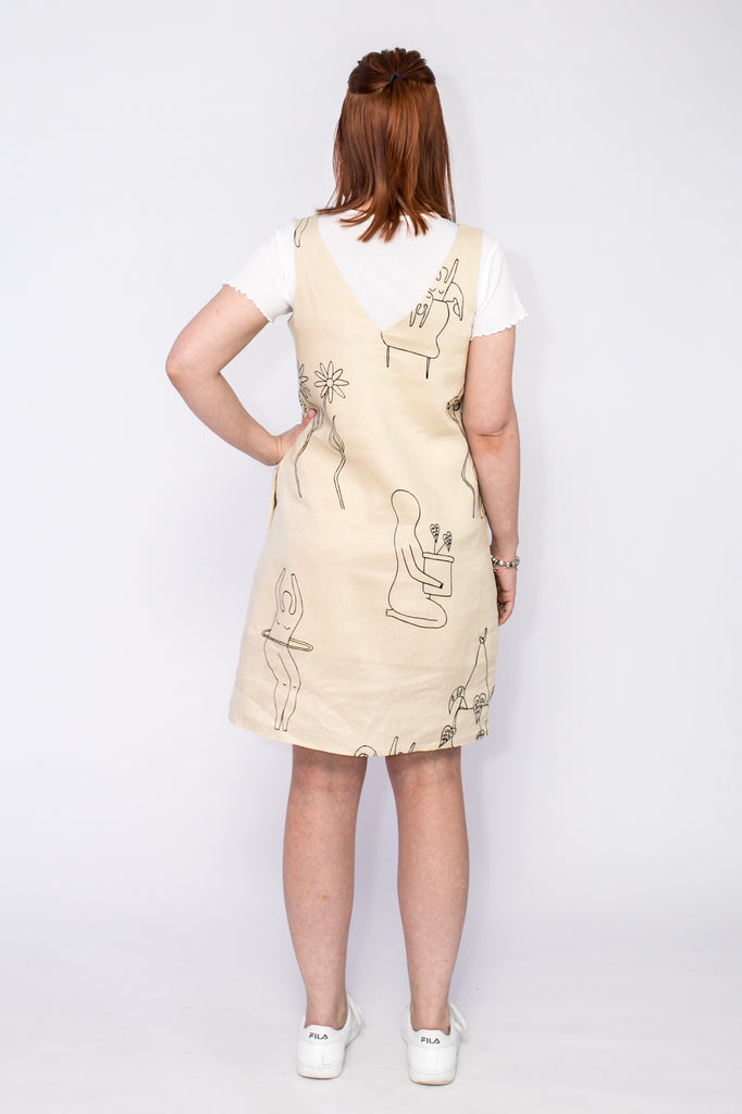 Lemon Lines shift dress