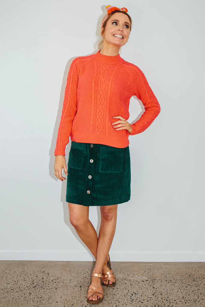 Petunia cable knit