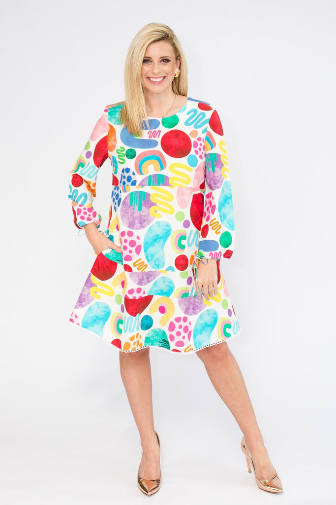 Raining Rainbows party dress