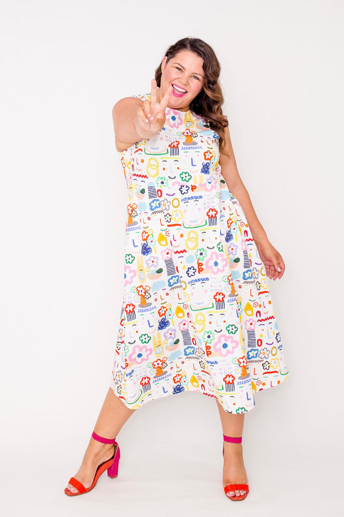 Flower Lovers smock dress