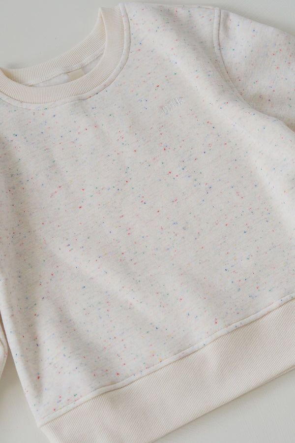 The Comfort Oversize Jumper - Cream Sprinkle
