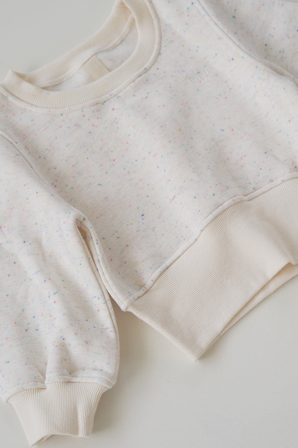 The Comfort Pullover - Cream Sprinkle
