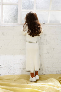 The Anyday Rib Knit Skirt - White