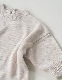 The original cream sprinkle knit playsuit