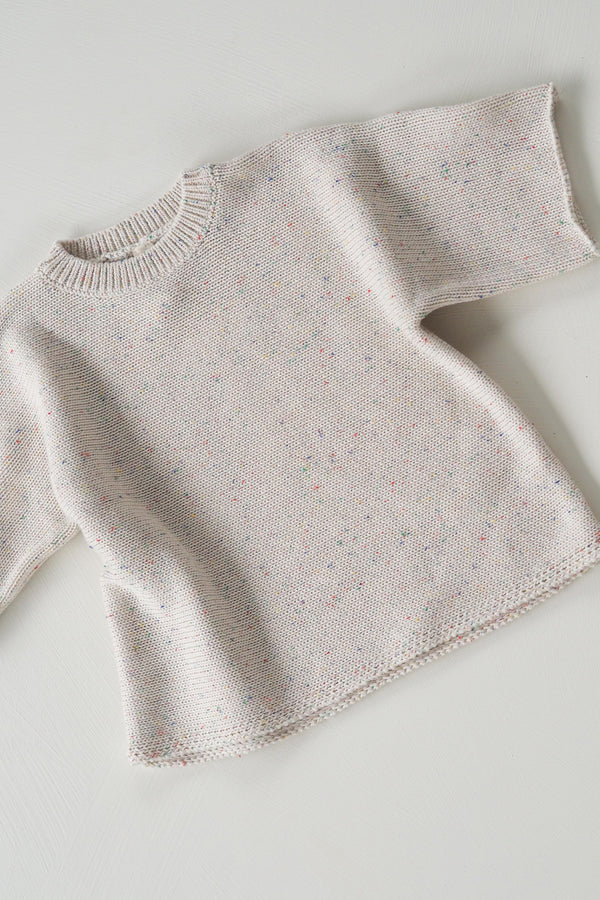 The original cream sprinkle knit tee - pre-order