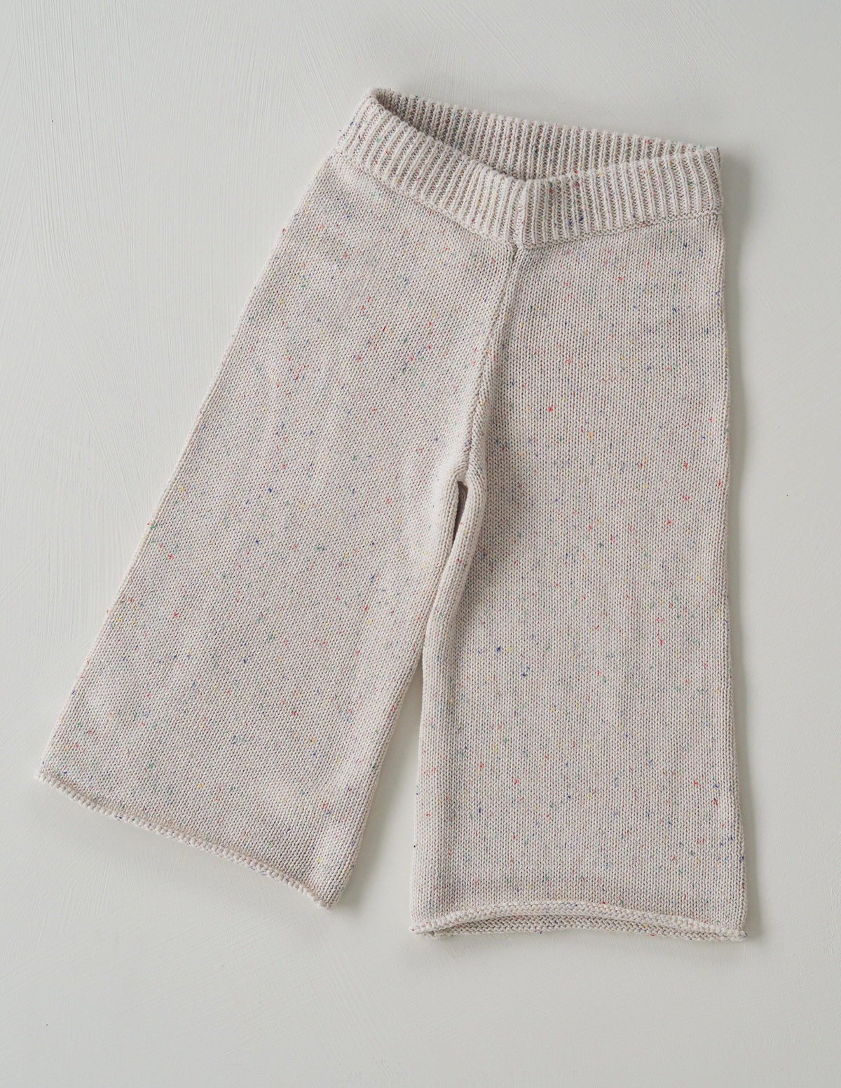 The original cream sprinkle knit pant