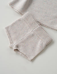 The original cream sprinkle knit shortie