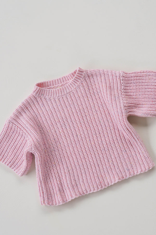 The pink chunky sprinkle knit tee