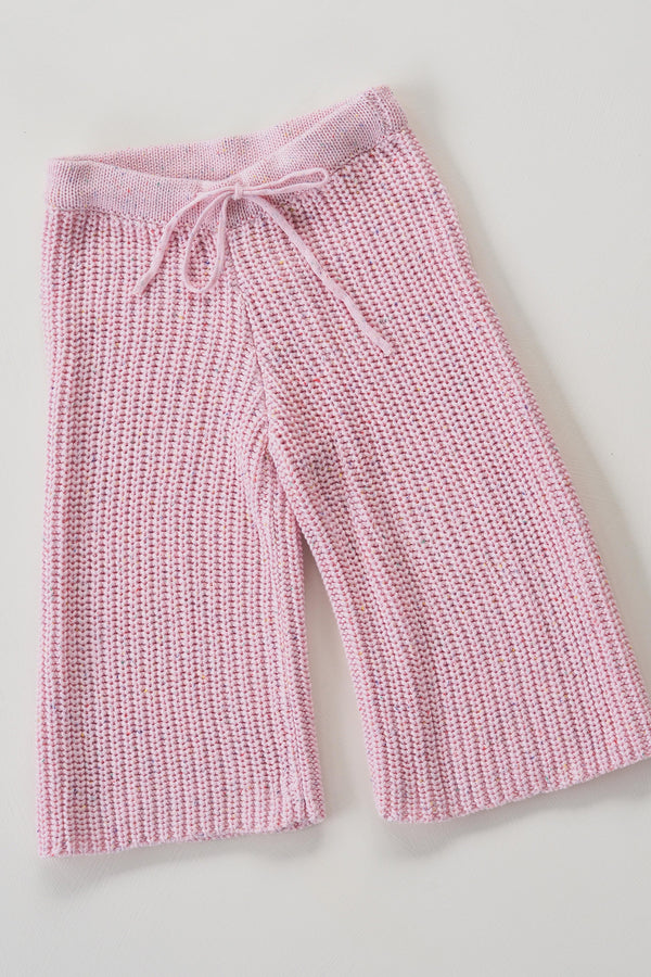 The pink chunky sprinkle knit pant