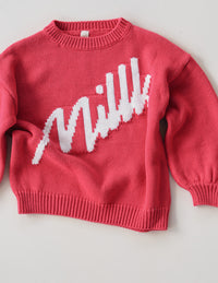The Millk Jumper - Raspberry w/ Cream Logo