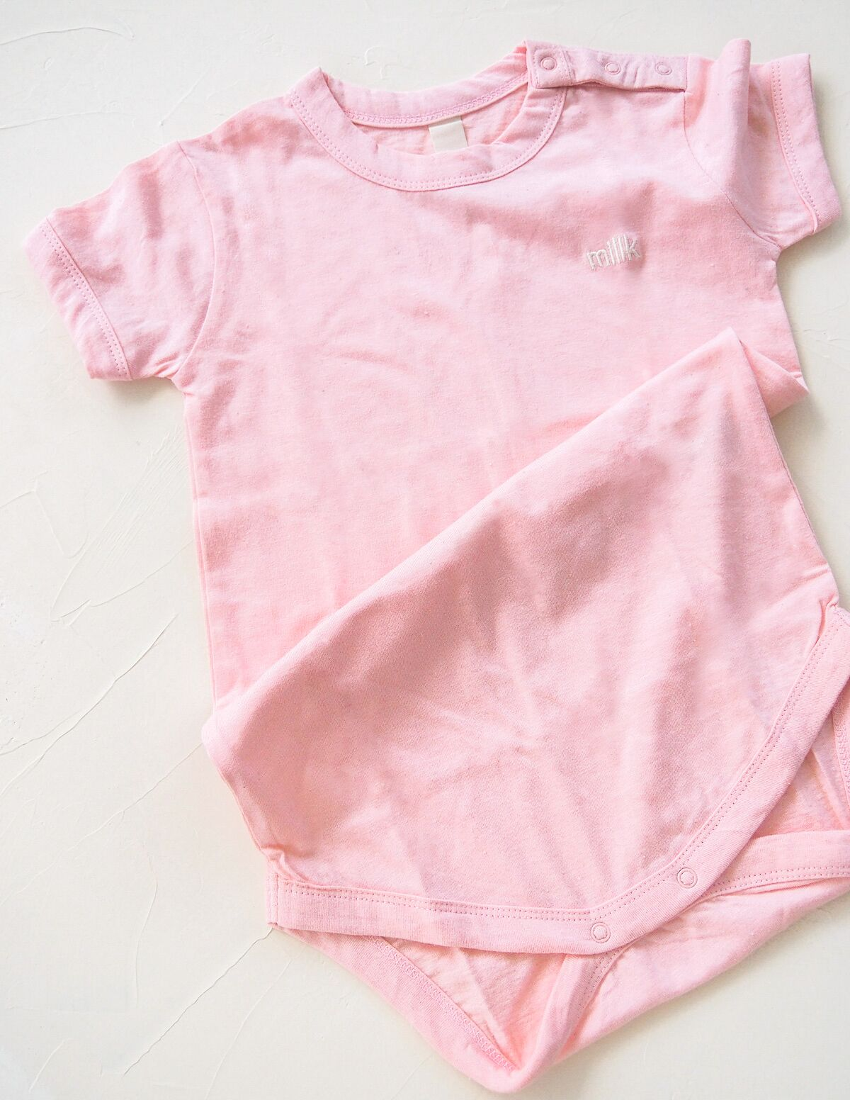 The Original Organic Tee Onesie - Pink
