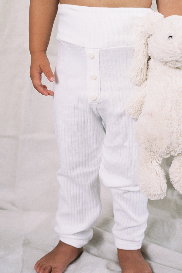 The Base Pant - White