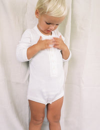 The Base Seasonal Onesie - White