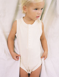 The Base Onesie - Almond
