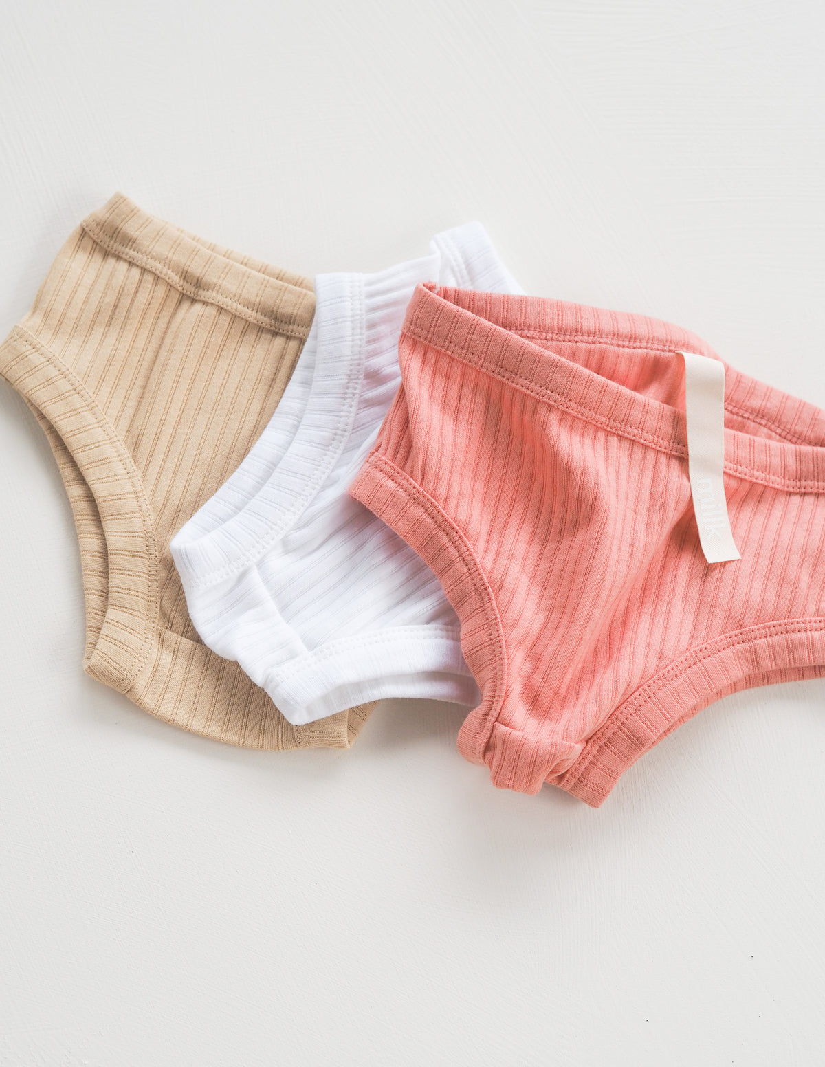 The Easy Undie 3 Pack - Rose/Sand/White