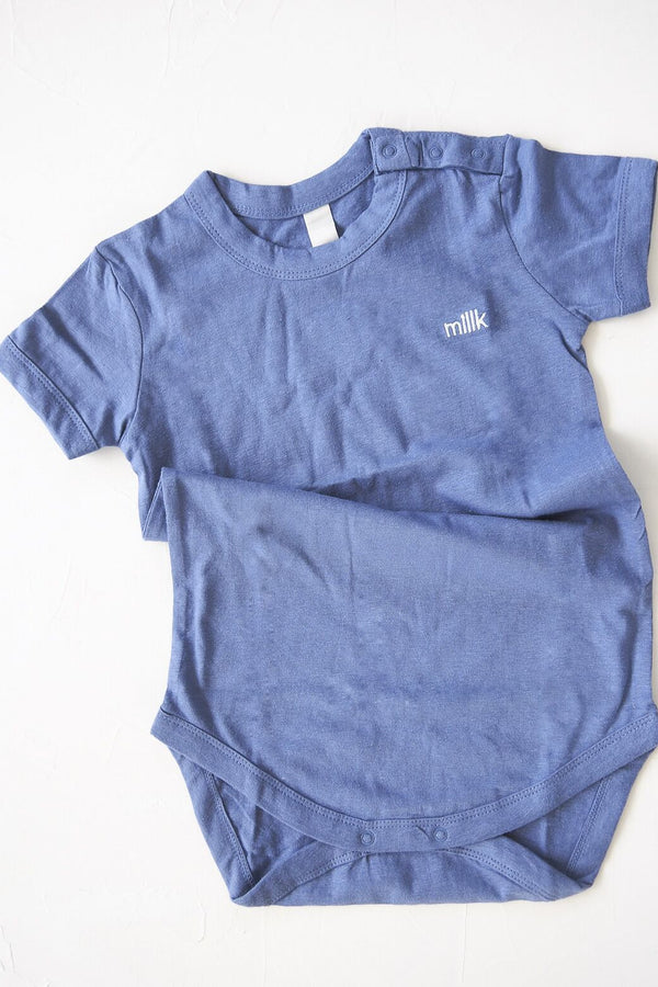 The Original Organic Tee Onesie - blue
