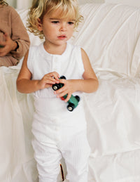 The Base Onesie - White