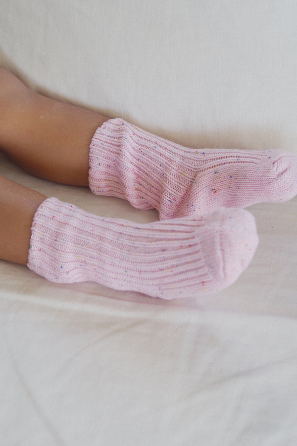 The pink sprinkle Knit Sock
