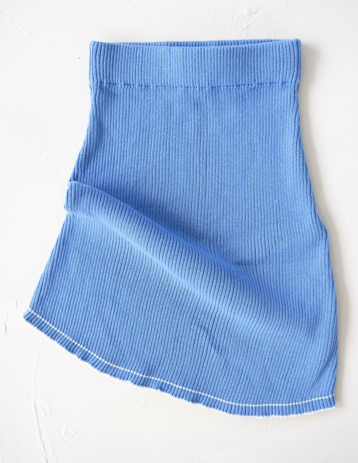 The Anyday Rib Knit Skirt - Sky Blue