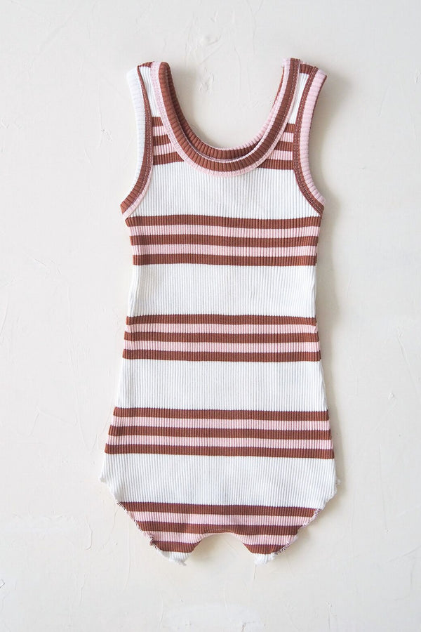 The Holiday Playsuit - earth stripe