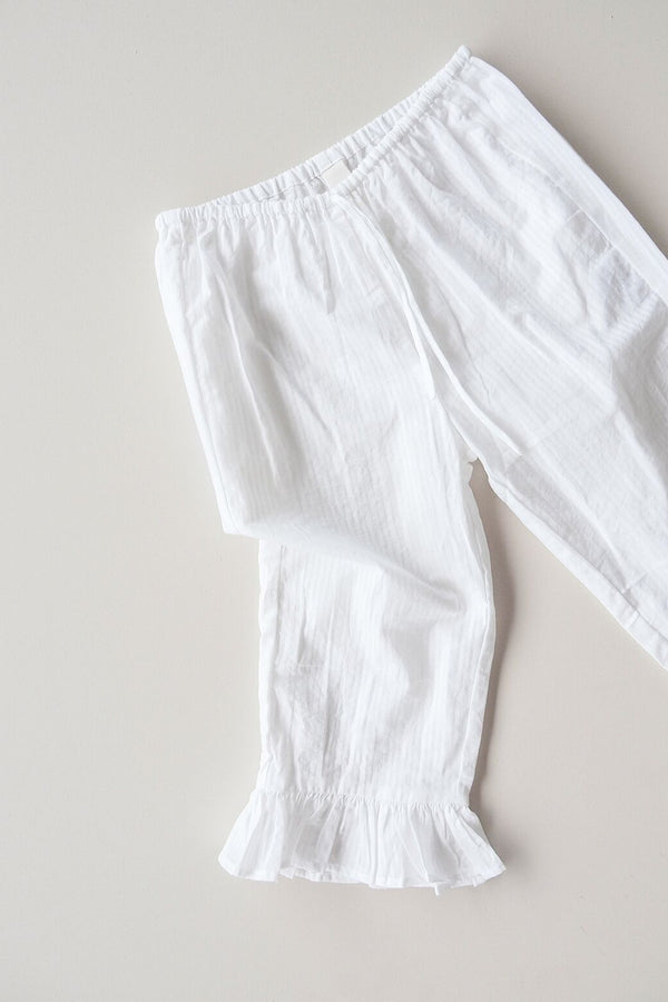 Femme Cotton Bed Pant - white