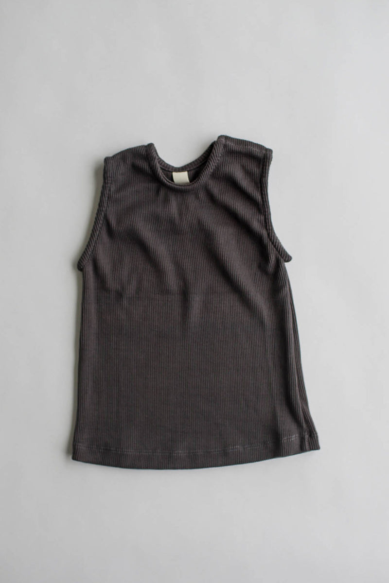 the everyday rib tank - charcoal