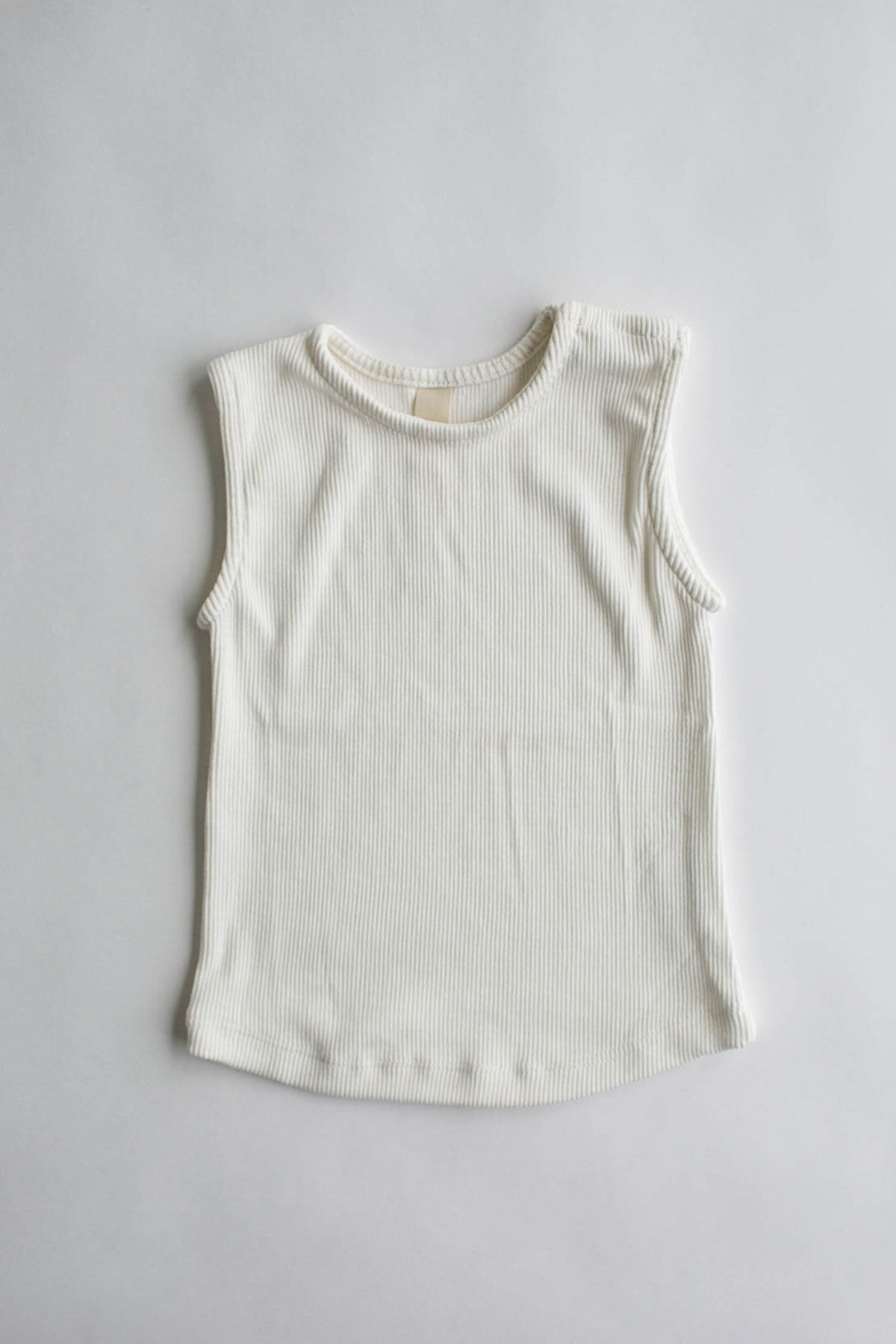 the everyday rib tank - white