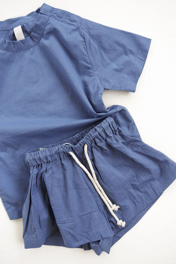The Simple Organic Short - blue