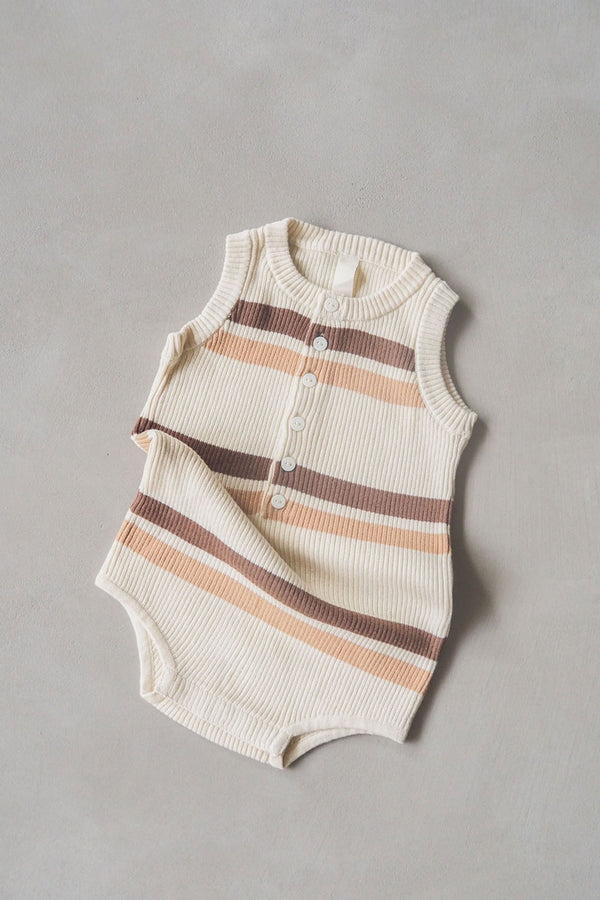 The Comfy Onesie - Chocolate Stripe