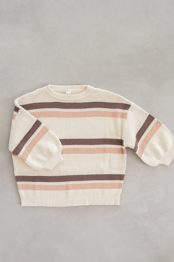 The Comfy Jumper - Chocolate Stripe
