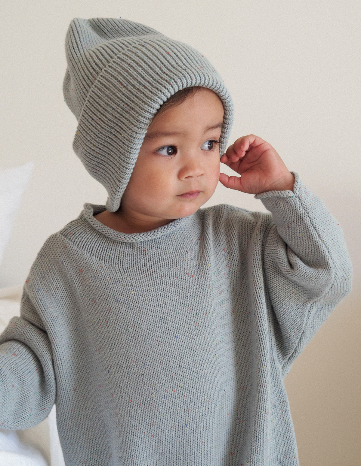 The sprinkle beanie — Seaglass