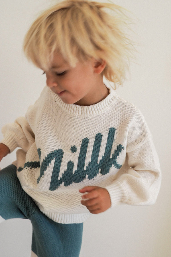 the millk signature jumper — Seaglass